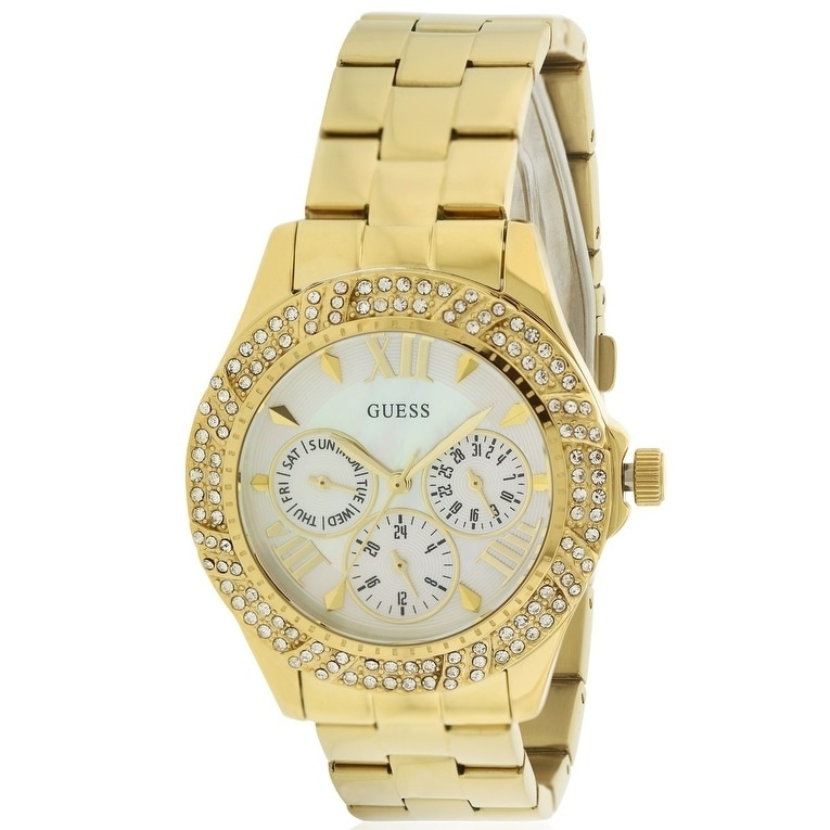 Guess Gold-Tone Ladies Watch U0632L2, Mother of Pearl, Si...