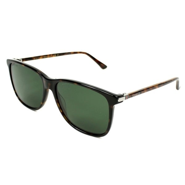 3c78a2f820c Shop Gucci Havana Square Mens Sunglasses - GG0017S-007 - Free Shipping  Today - Overstock - 17282367