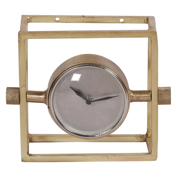 Renwil Adolph Brass Plated Clock