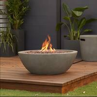 Riverside Gas Fire Bowl Glacier Gray by Real Flame