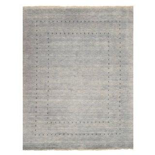 Handmade Wool Gray Traditional Solid Lori Baft Rug - 5' x 8'