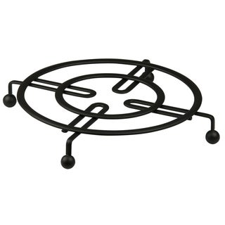 """Sweet Home Collection Black Flat Wire Trivet (8.25""""x8.25""""x1"""")"""