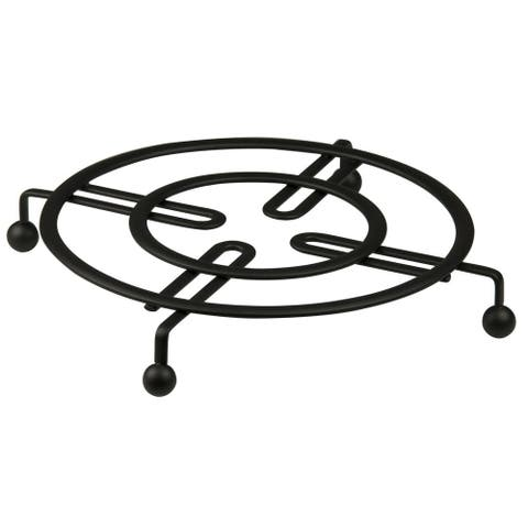 "Sweet Home Collection Black Flat Wire Trivet (8.25""x8.25""x1"")"