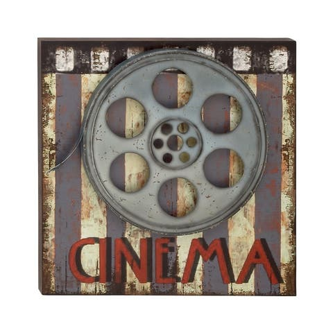 Studio 350 Wood Metal Movie Plaque 20 inches wide, 20 inches high