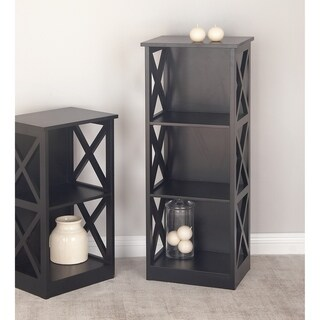 Studio 350 Wood Black Shelf 16 inches wide, 40 inches high