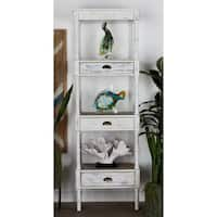 Studio 350 Metal Wood Storage Shelf 23 inches wide, 72 inches high