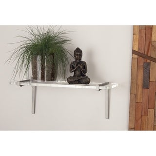 Studio 350 Metal Acrylic Wall Shelf 22 inches wide, 8 inches high