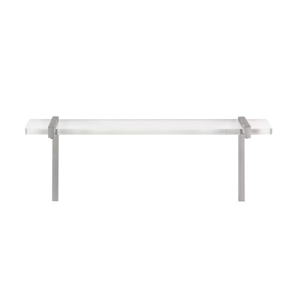 Studio 350 Metal Acrylic Wall Shelf 22 Inches Wide, 8 Inches High by Studio 350