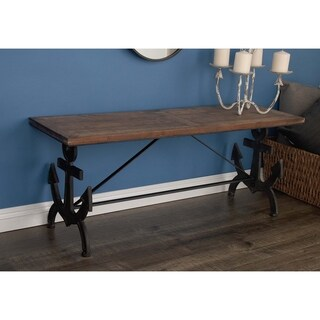 Studio 350 Metal Wood Anchor Bench 48 inches wide, 19 inches high