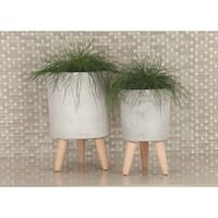 Studio 350 Fiber Clay Planter Set of 3, 12 inches, 15 inches, 17 inches high