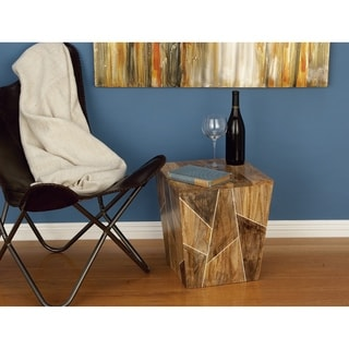 Studio 350 Wood Side Table 15 inches wide, 17 inches high