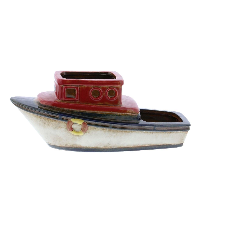Studio 350 Ceramic Boat Planter 13 inches wide, 5 inches ...