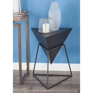 Studio 350 Wood Metal Triangle Table 20 inches wide, 24 inches high