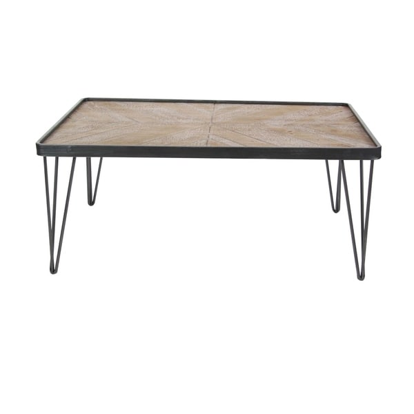 Studio 350 Metal Wood Coffee Table 39 inches wide, 17 inches high