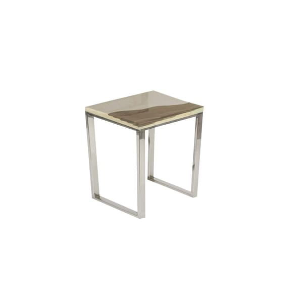 Studio 350 Stainless Steel Stone Table 18 inches wide, 19 inches high