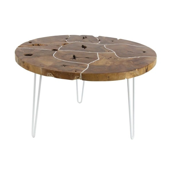 Shop Studio 350 Teak Coffee Table 32 Inches Wide 19