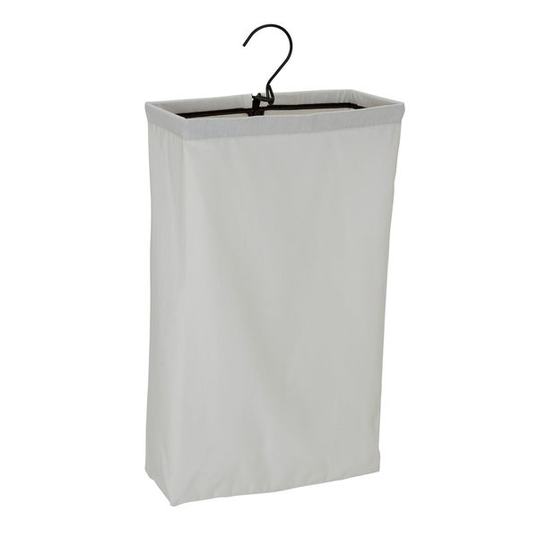 Household Essentials Hanging Doorknob Laundry Bag Hamper With Black Trim