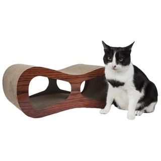 Pet Life Cat-Eyed Ultra Premium Contoured Lounger Designer Cat Scratcher