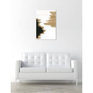 Oliver Gal 'Picos Montanas' Abstract Wall Art Canvas Print - White, Black