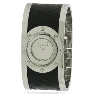 Gucci Twirl Stainless Steel And Leather Ladies Watch YA112441
