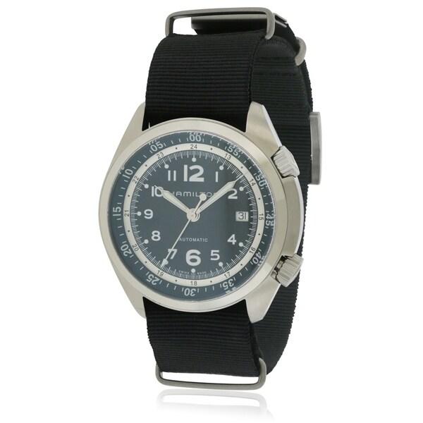 Hamilton Khaki Pilot Pioneer Automatic Leather Mens Watch H76455933