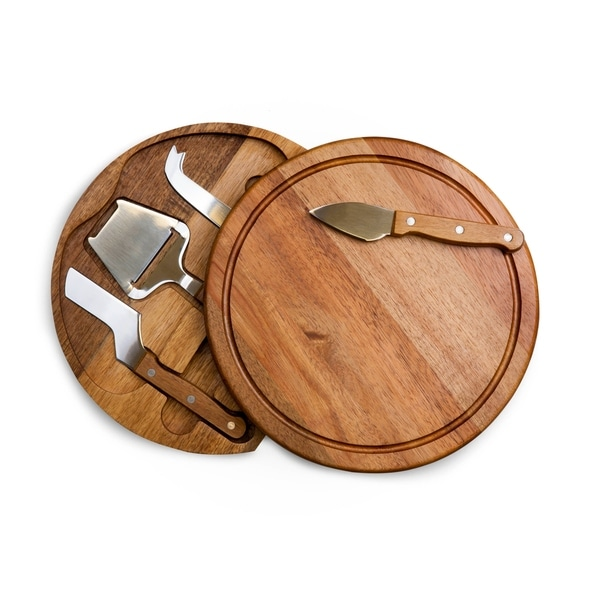 TOSCANA 'Acacia Circo' Cheese Board & Tools Set