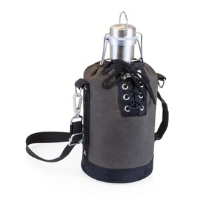 LEGACY® Insulated Grey & Black Growler Tote with 64-oz. Stainless Steel Growler