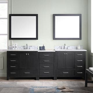 bathroom vanity set. Virtu USA Caroline Premium 90 inch Double Bathroom Vanity Set Vanities  Cabinets For Less Overstock com