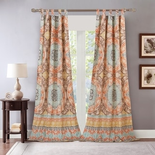 Link to Barefoot Bungalow Olympia Curtain Panel (set of 2) Similar Items in Window Treatments