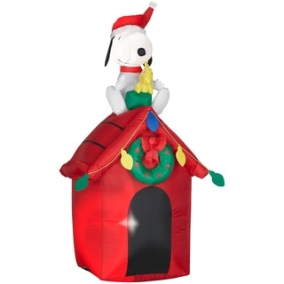 Christmas Airblown Inflatable Snoopy and Woodstock