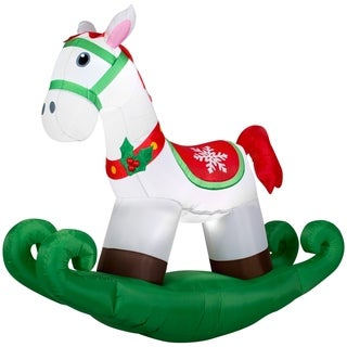 Christmas Airblown Inflatable Rocking Horse