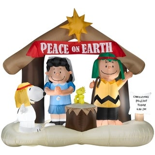 Christmas Airblown Inflatable Peanuts Nativity Scene