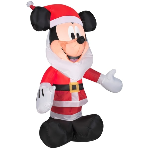 christmas airblown inflatable mickey mouse with santa beard - Mickey Mouse Christmas Blow Up