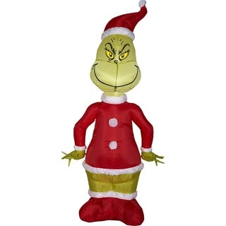 Christmas Airblown Inflatable Grinch as Santa