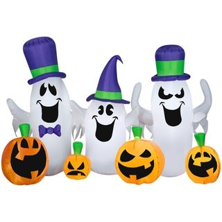 Halloween Airblown Inflatable Ghosts and Jacks Collection Scene