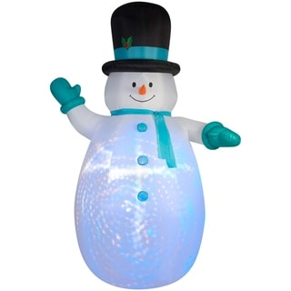 Christmas Airblown Inflatable Projection Giant Snowman with Swirls