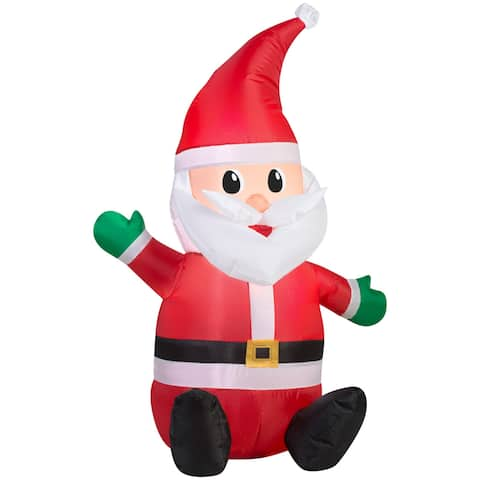Christmas Airblown Inflatable Seated Santa with Hat