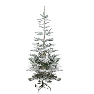 9' Flocked Noble Fir Artificial Christmas Tree - Unlit