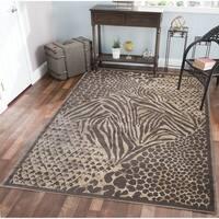 Gallina Animal Print Brown Area Rug - 5'3 x 7'3