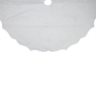 "38"" Christmas Traditions Winter White Scalloped Edge Christmas Tree Skirt"