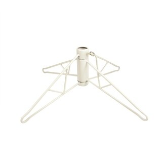 White Metal Christmas Tree Stand For 12' - 15' Artificial Trees