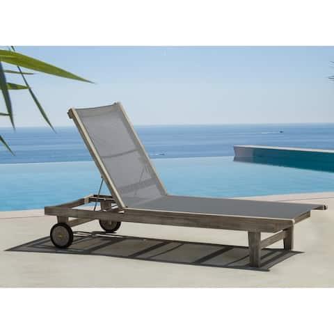 Surfside Driftwood Grey Teak Deck Lounge Chair by Havenside Home