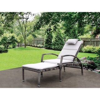 Courtyard Casual Taupe Beach Front Deck Chair to Chaise Lounge Combo