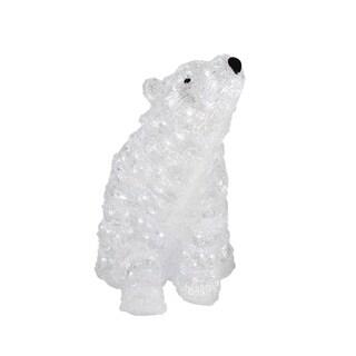 """18"""" Lighted Commercial Grade Acrylic Polar Bear Christmas Display Decoration"""