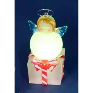 """4"""" LED Lighted Color-Changing Angel on Present Table Top Christmas Decoration"""