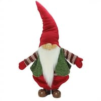 "22"" Red  Green and White Gnome Christmas Tabletop Decoration"