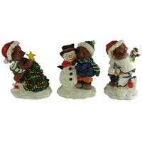 Club Pack of 72 Christmas Bear Table Top Figures 3.5""