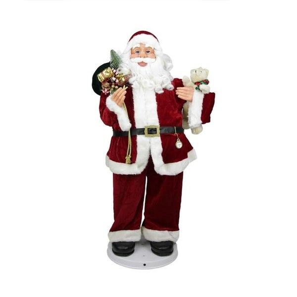 Christmas Dancing Santa.4 Deluxe Animated And Musical Decorative Dancing Santa Claus Christmas Figure