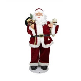 4' Deluxe Animated and Musical Decorative Dancing Santa Claus Christmas Figure