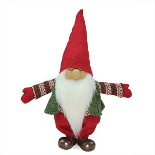 """23"""" Red Green and White Santa Gnome Christmas Tabletop Decoration"""